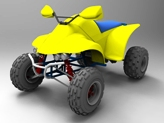 Example of rendering of Quad Vehicle